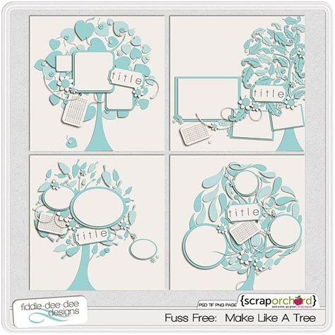 fuss free make like a tree oh scrap pinterest