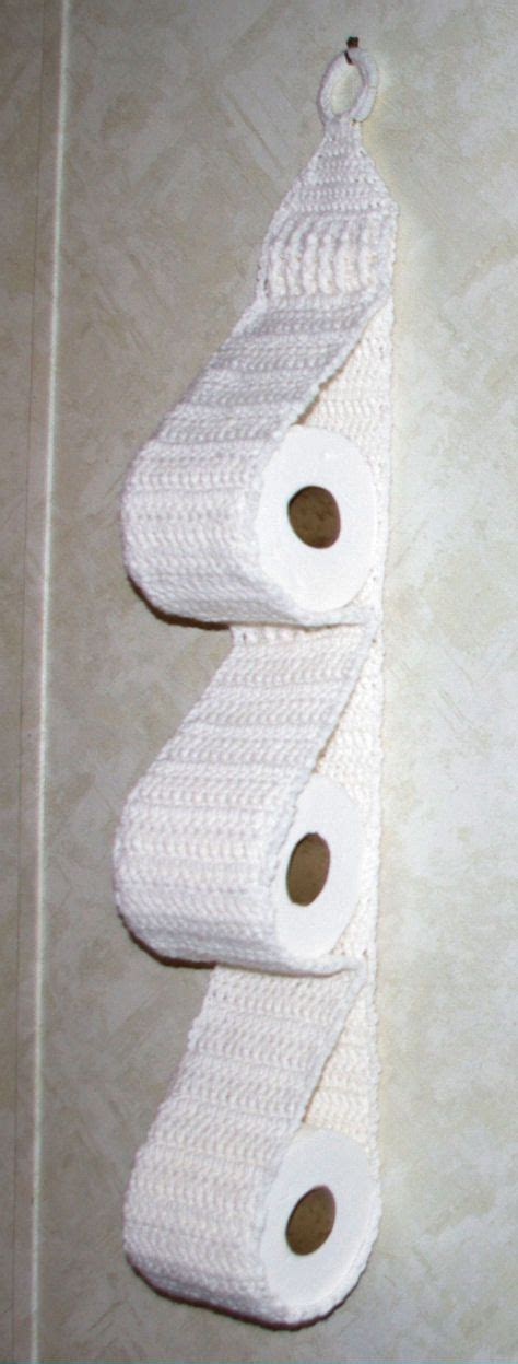 pattern paper dispenser hanging three roll toilet tissue holder free crochet