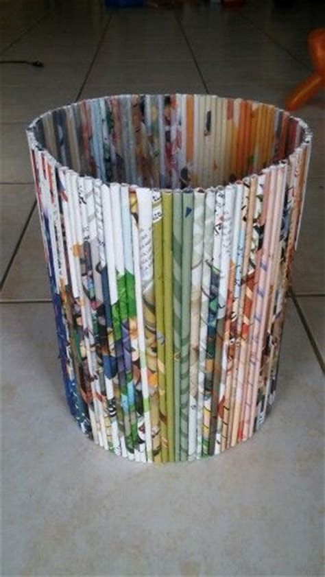 Recycled Paper Crafts - best 25 paper recycling bins ideas on green