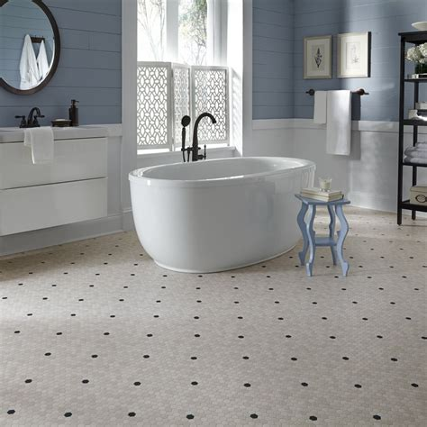 vinyl sheet flooring for bathroom a 1920 s throwback design penny lane lvs is a small scale