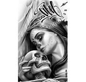 Girl Kissing Skull OG Abel