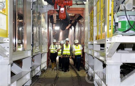 Mesin Bor Tanah Di Jakarta pengoperasian mesin bor bawah tanah mrt foto 3 1614903 tribunnews