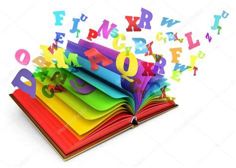 libro cuentos letras hispanicas letras de un libro abierto libro de magia cuento de hadas fondo blanco render 3d fotos de