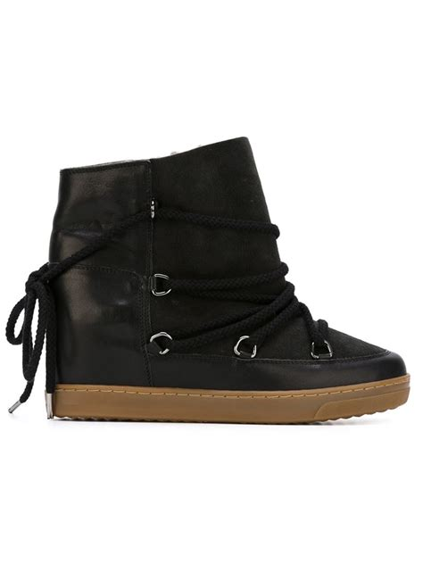 marant nowles concealed wedge boots in black lyst