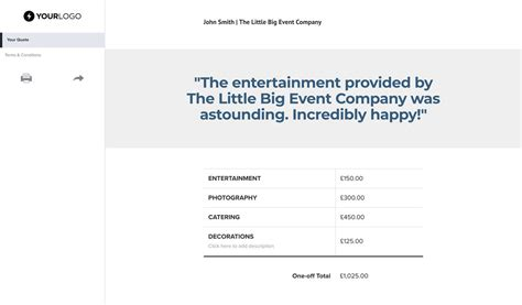 Free Event Planner Quote Template Better Proposals Event Planner Quote Template