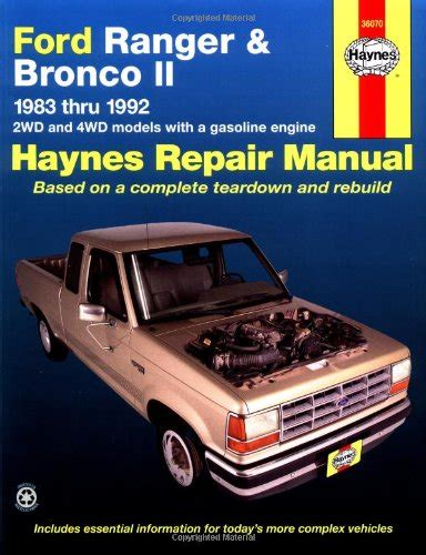 car repair manuals online free 1989 ford ranger parental controls haynes automotive repair manual ford ranger bronco ii 1983 thru 1992 haynes repair manuals