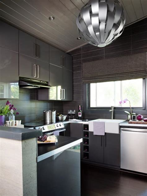 grey modern kitchen design small modern kitchen design ideas hgtv pictures tips hgtv