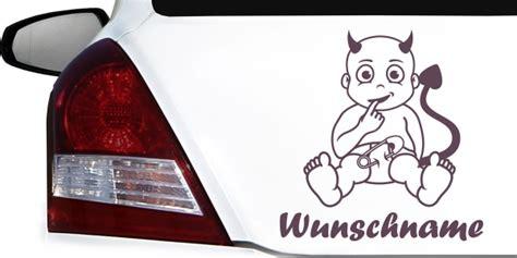 Autoaufkleber Baby Teufel by Autoaufkleber Baby Mit Wunschnamen