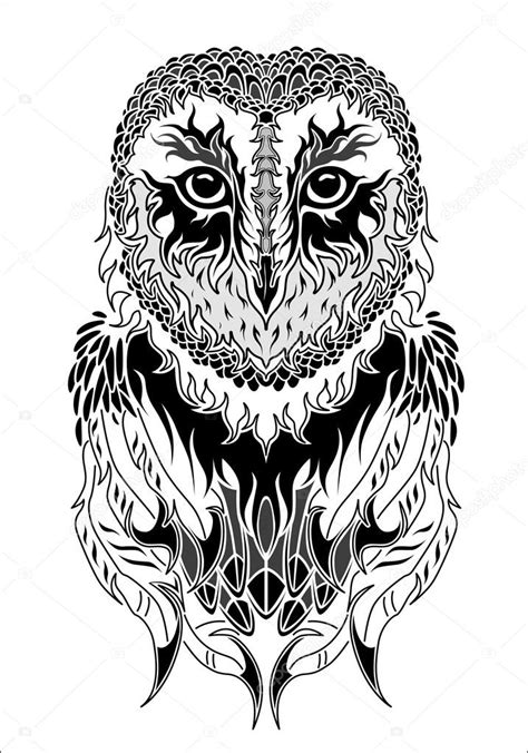 owl tattoo black and white owl tattoo black and white stock vector 169 diana