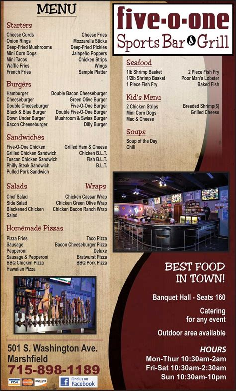 Top Bar Burger Menu by 1000 Ideas About Sports Bars On Sport Bar
