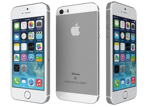 model apple iphone se silver cgtrader