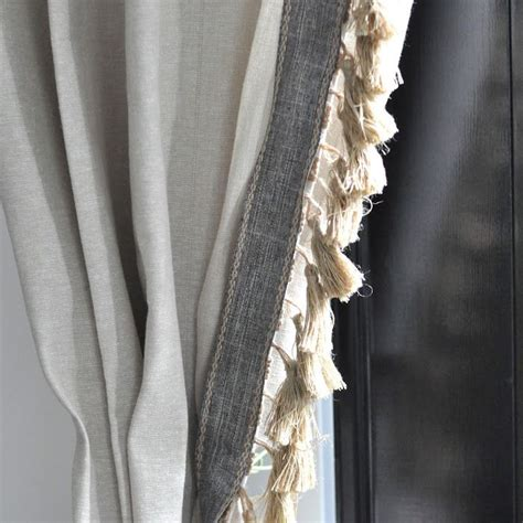 tassels for curtains anthro inspired jute tassel trim curtains jute window