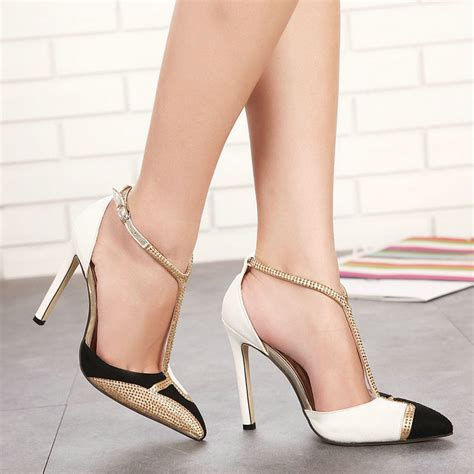 shoes for high heels and autumn high heeled shoes toe cap covering