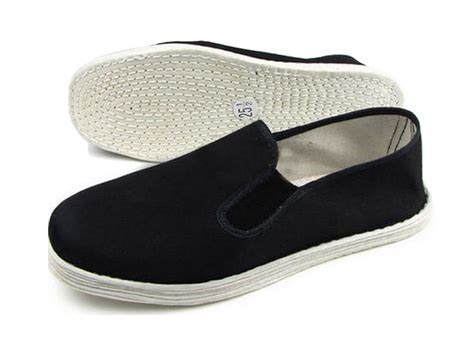 cotton shoes vintage made kung fu shoes black icnbuys
