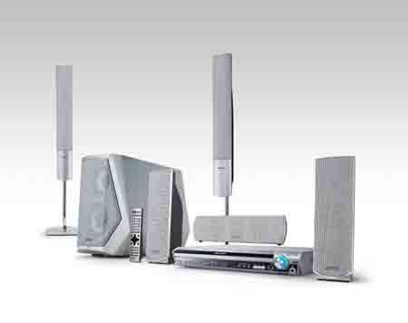wireless home theater with an asterisk sound vision