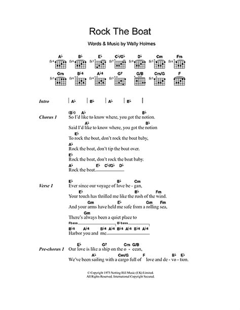 rock the boat sheet music by the hues corporation lyrics - Rock The Boat Hues Corporation Chords