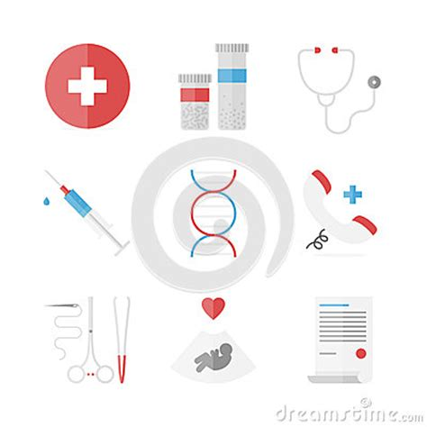design analysis icon design services icon set medicine and clinical flat icons set stock vector image