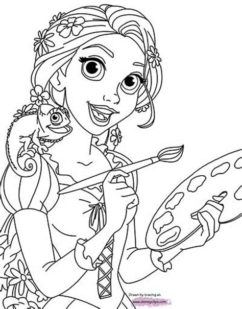 tangled pascal pages coloring pages