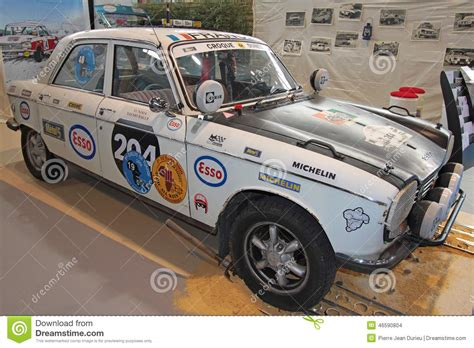peugeot france automobile old peugeot rally car editorial stock image image 46590804