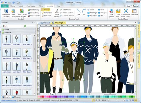 design fashion program men clothing design software edraw