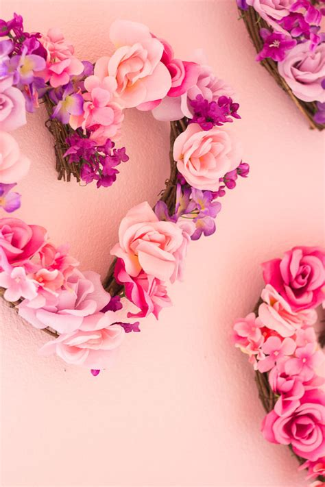 Home Decor Artificial Flowers by Valentine S Day Decor Diy Floral Hearts Design Improvised