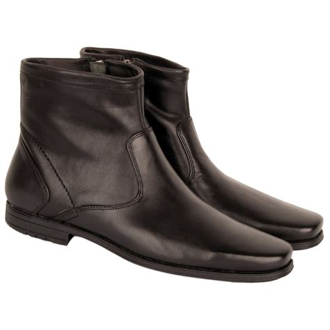 mens ankle boots zipper rockport black zipper men s ankle boot