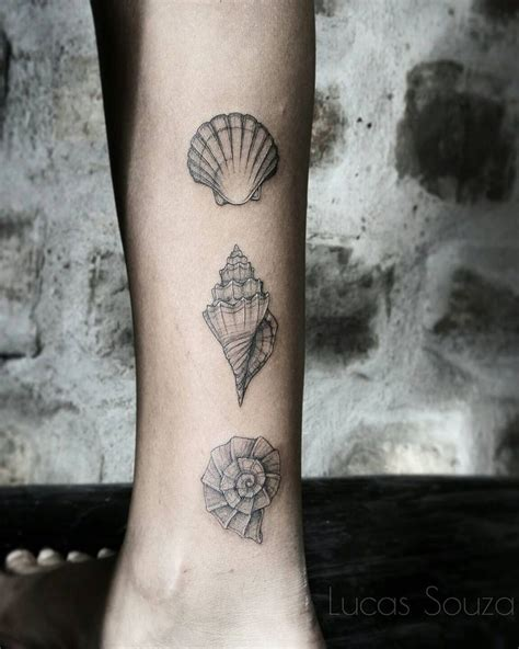 small seashell tattoo best 20 seashell tattoos ideas on