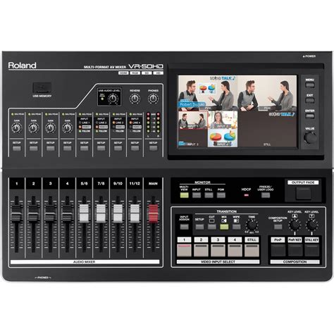 Roland Vr 50hd Roland Vr 50hd Multi Format Av Mixer Vr 50hd B H Photo