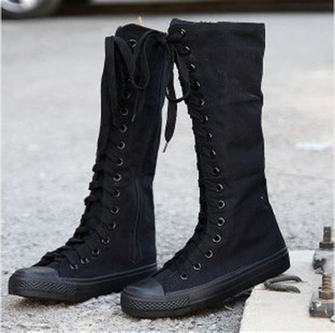 new rock boots shoe sneaker knee high ccl 011
