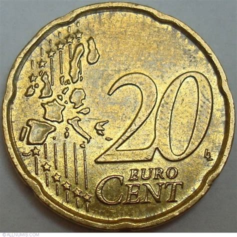 20 buro cent coin of 20 cent 2004 from italy id 29757