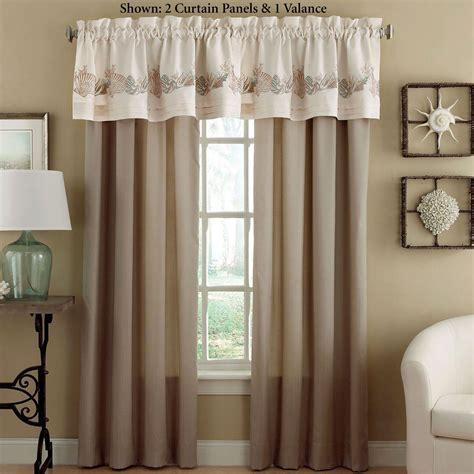 Coastal Window Curtains Seashore Coastal Window Treatment From Chapel Hill By Croscill