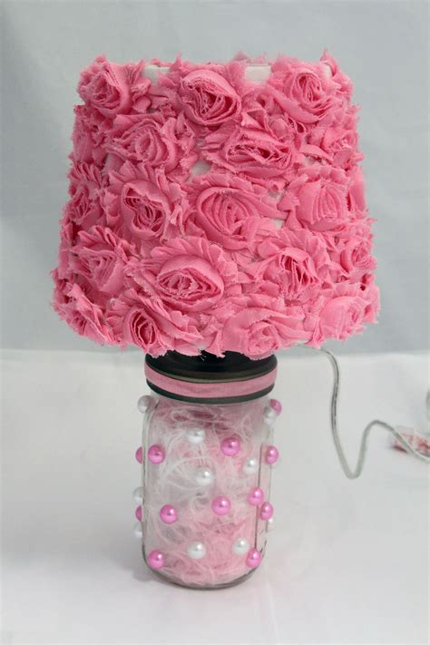 creative diy bedside table lampshade decoration with red