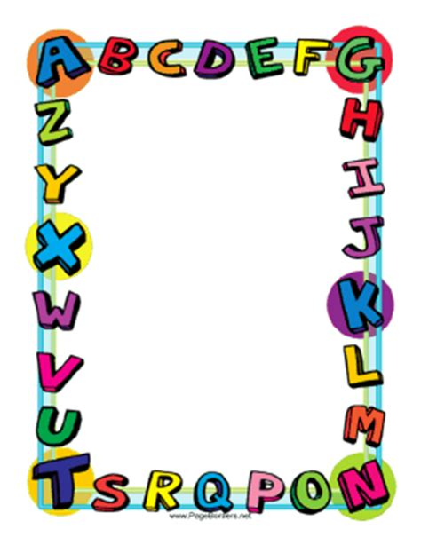 printable letters with borders this colorful alphabet border is great for kids and school