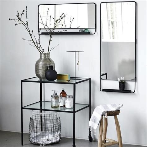 Seller E M O R Y Doctor Bag Series 1678 black framed mirror with shelf tea and kate