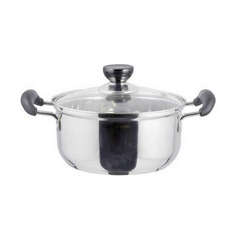 Panci Stainless 20cm By Jiangda99 jual cookville saucepot panci dengan tutup kaca 20 cm