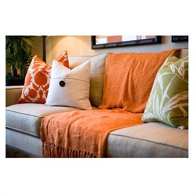 orange sofa throw gap interiors comfortable sofa with orange throw blanket