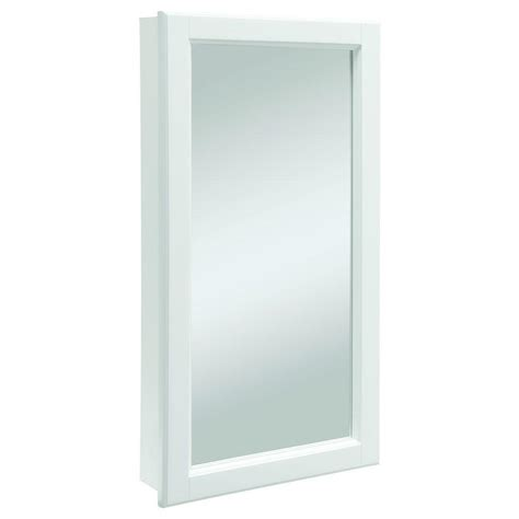 White Bathroom Medicine Cabinet Design House Wyndham 16 In W X 30 In H X 4 3 4 In D Framed Surface Mount Bathroom Medicine