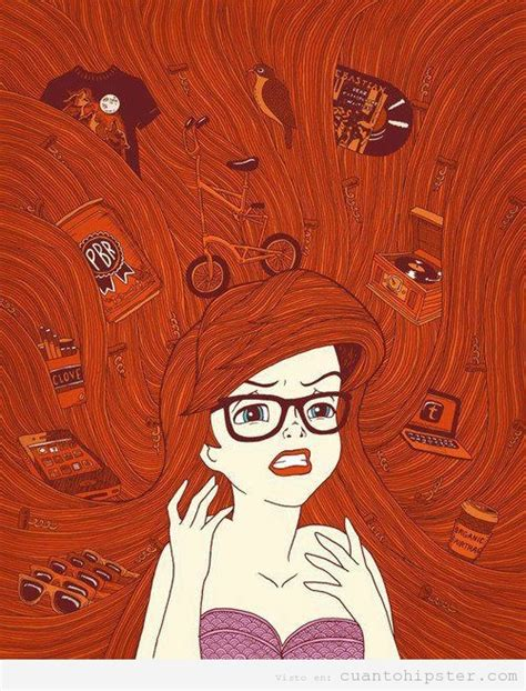 imagenes hipster de las princesas sirenita hipster ilustrada cu 225 nto hipster