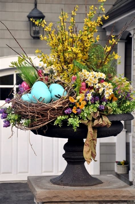 outdoor easter outdoor easter decorations 27 ideas for garden and entry