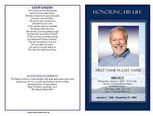 Funeral Program Template Download Funeral Program Templates Mountain Memory Graduated Fold