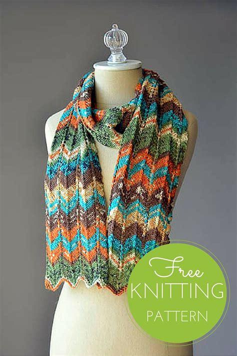 pattern magic knits happy magic scarf free knitting pattern chevron scarves