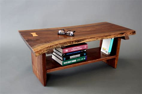 live edge coffee tables live live edge walnut coffee table bench with sliding