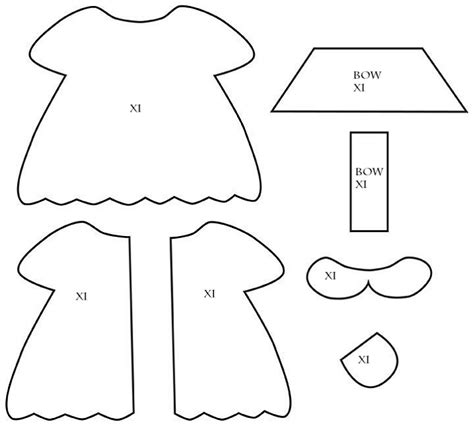 Dress A Doll Template by Doll Diaries Chapter 2 Hikari S Felt Doll Dress
