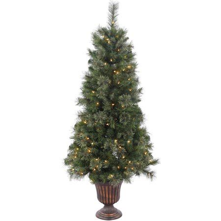 walmart christmas trees potted vickerman 5 potted butte mixed pine artificial tree with 150 clear lights walmart