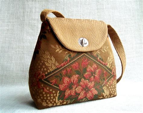 Handmade Patterns - handmade purse with floral pattern inspired