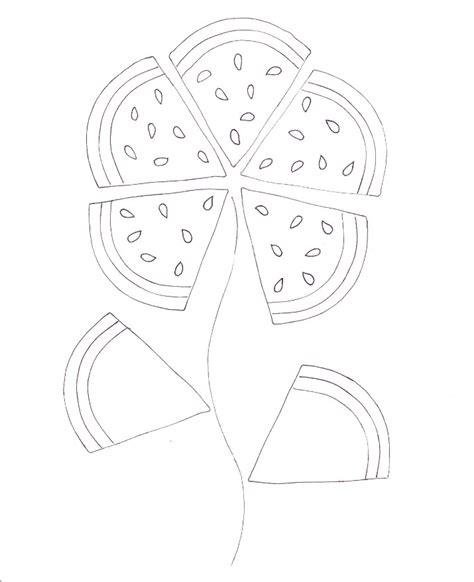 watermelon plant coloring page watermelon flower coloring wee folk art