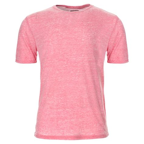 t shirt mens red marl plain t shirt