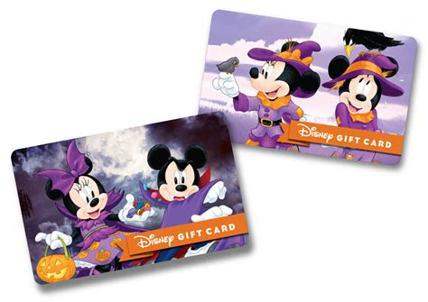 Disney Parks Gift Card - disney gift cards feature new halloween designs diszine