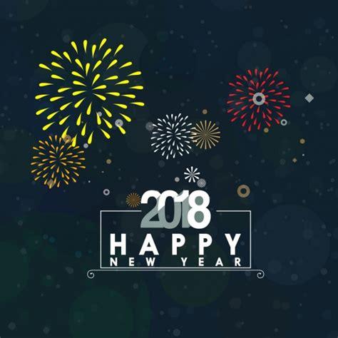 new year template 2018 พ นหล งดอกไม ไฟม ส ส นแบนเนอร ใหม ป 2018 เวกเตอร แบนเนอร