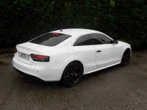white audi s5 black rims